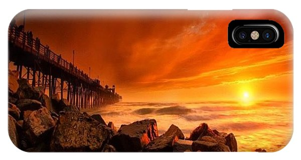 iPhone X Case - Long Exposure Sunset At A North San by Larry Marshall