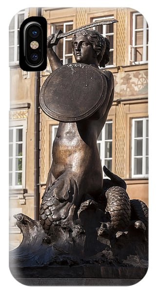 Mermaid Statue In Warsaw. IPhone Case