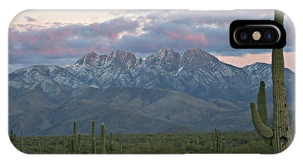 Four Peaks Sunset Snow IPhone Case