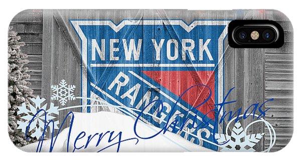 Puck iPhone Case - New York Rangers by Joe Hamilton