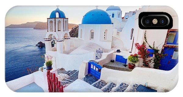 Oia Town On Santorini Greece IPhone Case