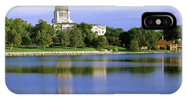 Capitol Building iPhone Case - Reflection Of A Government Building by Panoramic Images