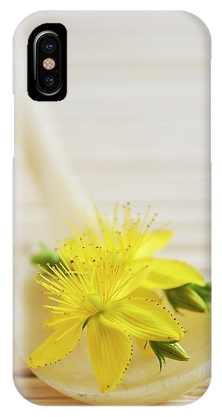 St. Johns Wort (hypericum Perforatum) Phone Case by Gustoimages/science Photo Library