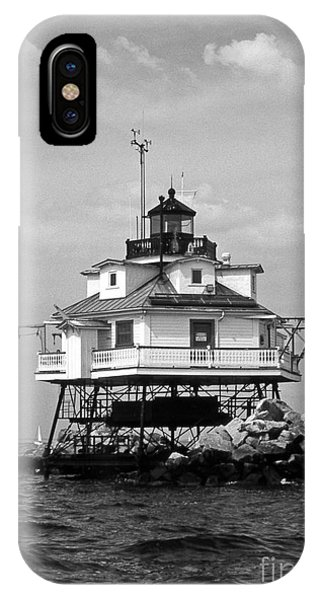 Lighthouse Wall Decor iPhone Case - Thomas Point Shoal Lighthouse by Skip Willits