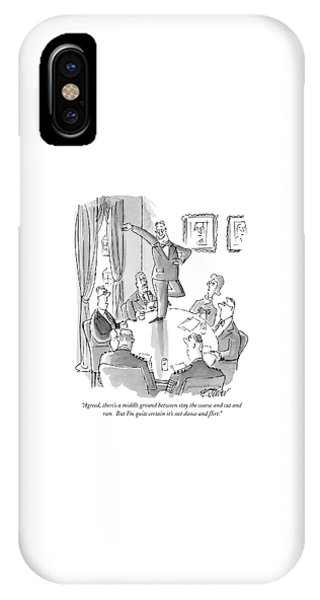George Bush iPhone Case - Agreed, There's A Middle Ground Between Stay by Peter Steiner