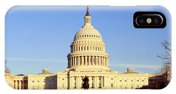Usa, Washington Dc, Capitol Building Phone Case by Walter Bibikow