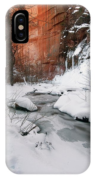 16x20 Canvas - West Fork Snow IPhone Case