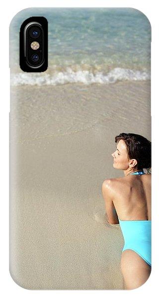 Sunbather iPhone Case - Woman Sunbathing by Ian Hooton/science Photo Library