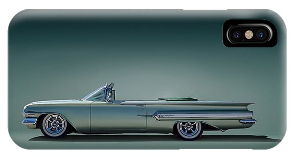 Fins iPhone Case - 60 Impala Convertible by Douglas Pittman