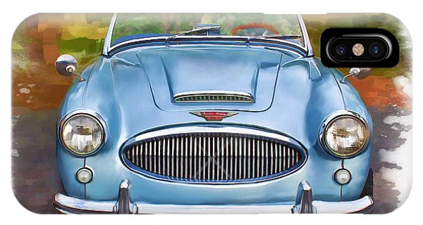 IPhone Case featuring the mixed media 62 Austin Healy by Deborah Boyd