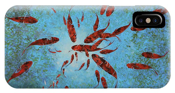 Koi iPhone Case - 63 Pesci Rossi by Guido Borelli