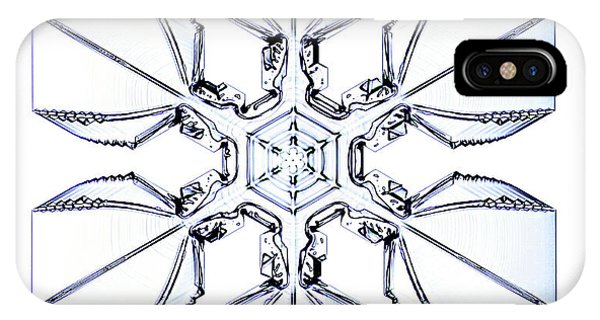 Snowflake Phone Case by Kenneth Libbrecht