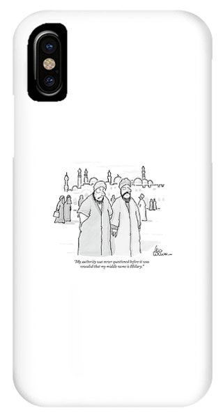 Hillary Clinton iPhone Case - My Authority Was Never Questioned by Leo Cullum
