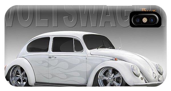 Volkswagen iPhone Case - 64 Volkswagen Beetle by Mike McGlothlen