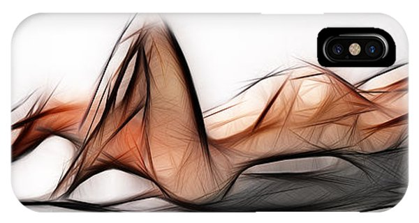 6524 Fractal Nude 1 To 3 Ratio Abstract Signed Chris Maher IPhone Case
