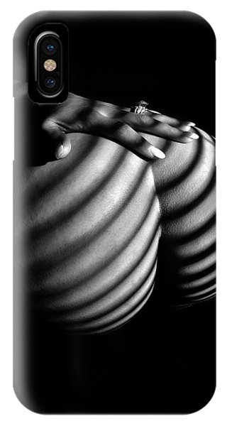 6747 Zebra Woman Nude Stripe Series   IPhone Case