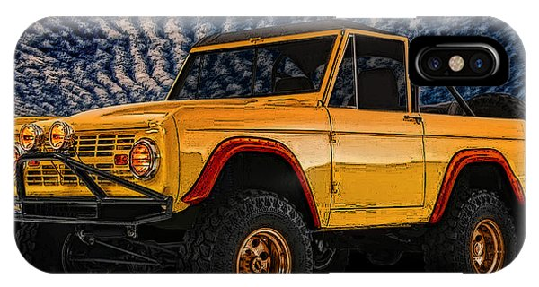 69 Ford Bronco 4x4 Restoration IPhone Case