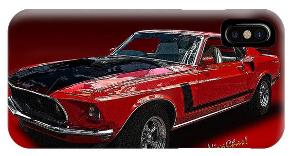 69 Mustang Mach 1 IPhone Case