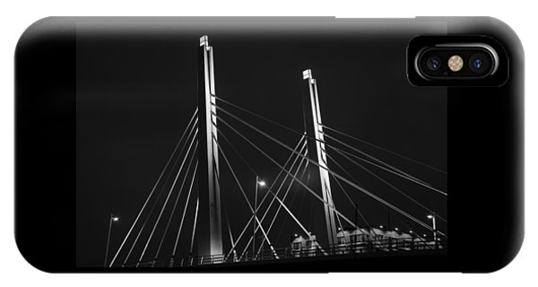 6th Street Bridge Black And White IPhone Case