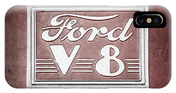 Coupe iPhone Case - 1940 Ford Deluxe Coupe Emblem by Jill Reger