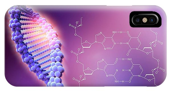 Crispr-cas9 Gene Editing Phone Case by Alfred Pasieka/science Photo Library