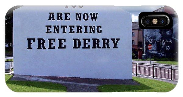 Free Derry Corner 4 IPhone Case