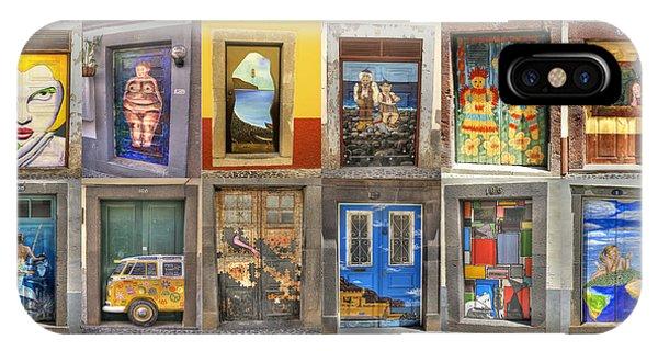 Funchal Door Art IPhone Case