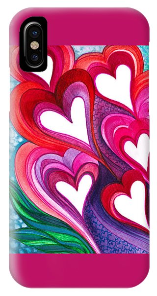 7 Hearts IPhone Case