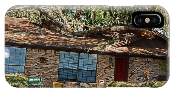 Hurricane Irma Residential Storm Damage Phone Case by Millard H. Sharp