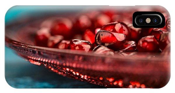 Fresh iPhone Case - Pomegranate by Nailia Schwarz