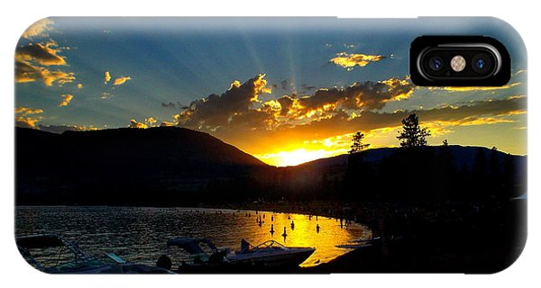 Skaha Lake Sunset IPhone Case