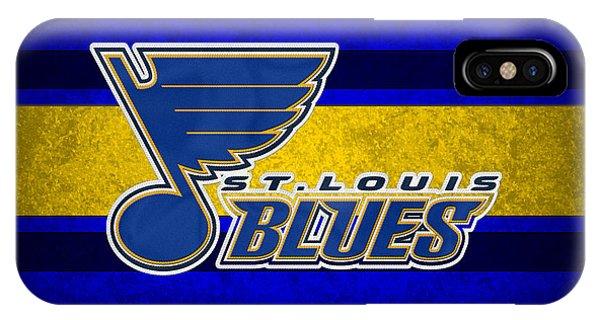 Puck iPhone Case - St Louis Blues by Joe Hamilton