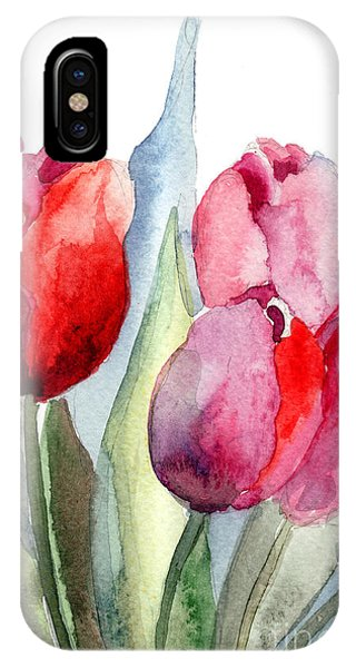 Tulips Flowers IPhone Case