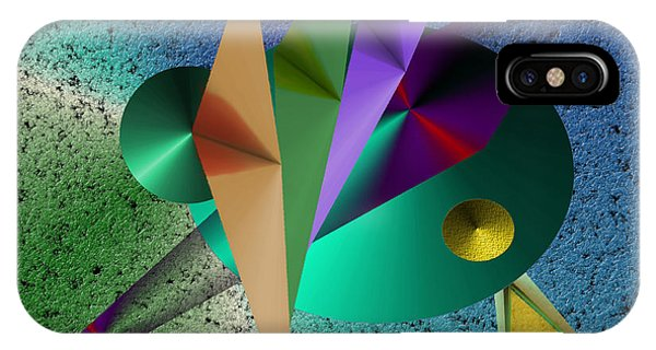 Abstract Bird Of Paradise IPhone Case