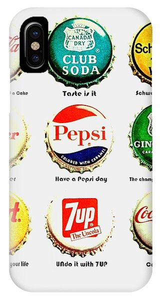 Drink iPhone Case - 70s Soft Drink Slogans by Benjamin Yeager