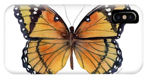 Moth iPhone Case - 76 Viceroy Butterfly by Amy Kirkpatrick