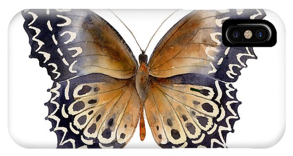 Moth iPhone Case - 77 Cethosia Butterfly by Amy Kirkpatrick