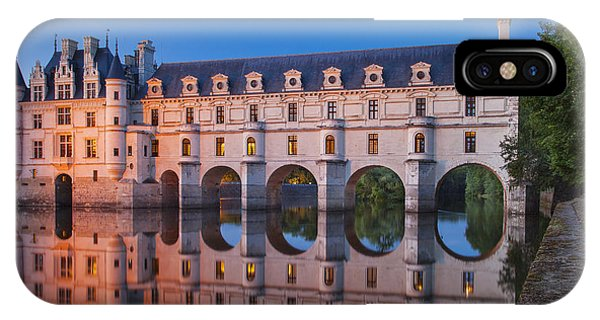 Castle iPhone X / XS Case - Chateau Chenonceau by Brian Jannsen