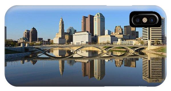 Fx1l-1058 Columbus Ohio Skyline Photo IPhone Case