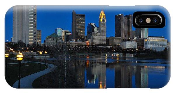 Columbus Ohio Skyline At Night IPhone Case