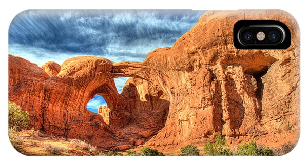 Double Arch In Arches National Park Phone Case by Pierre Leclerc Photography