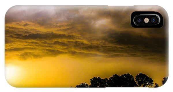 Late Afternoon Nebraska Thunderstorms IPhone Case