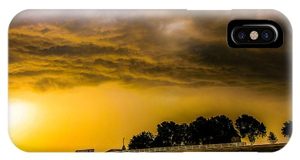 IPhone Case featuring the photograph Late Afternoon Nebraska Thunderstorms by NebraskaSC