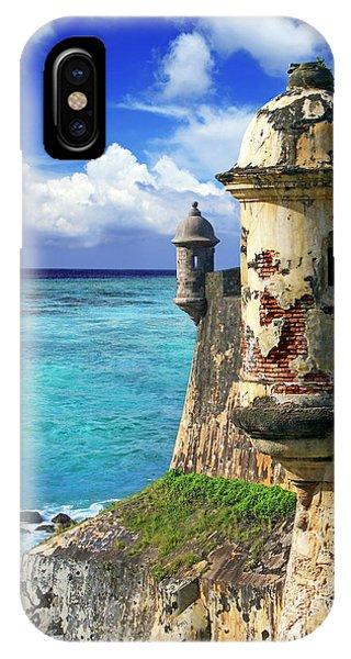 iPhone Case - Puerto Rico, San Juan, Fort San Felipe by Miva Stock