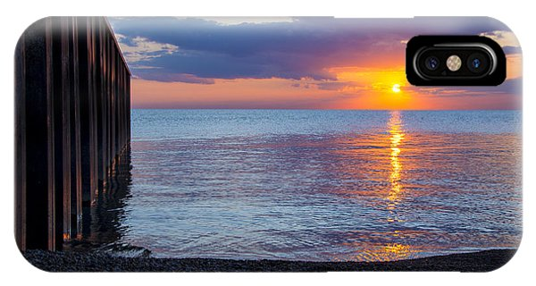 8.16.13 Sunrise Over Lake Michigan North Of Chicago 001 IPhone Case