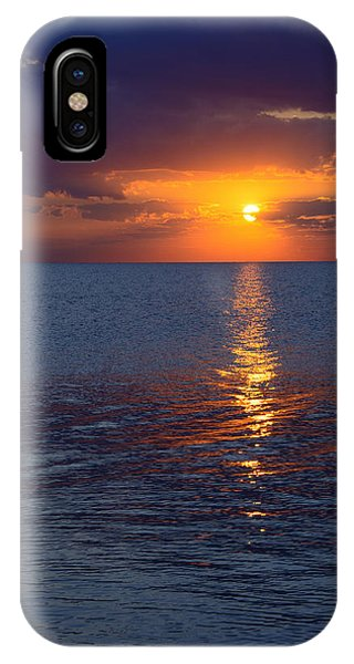 8.16.13 Sunrise Over Lake Michigan North Of Chicago 002 IPhone Case