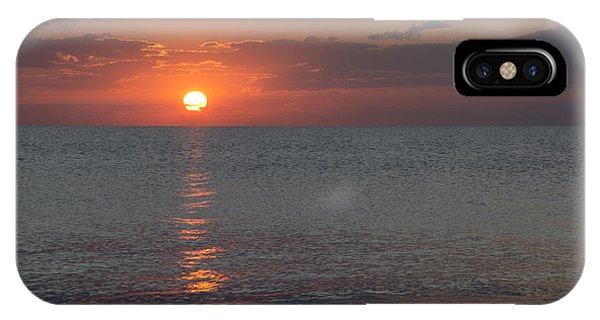 8.16.13 Sunrise Over Lake Michigan North Of Chicago 004 IPhone Case