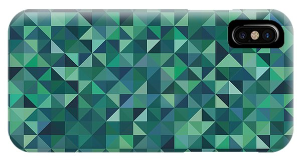 Triangles iPhone Case - Pixel Art by Mike Taylor