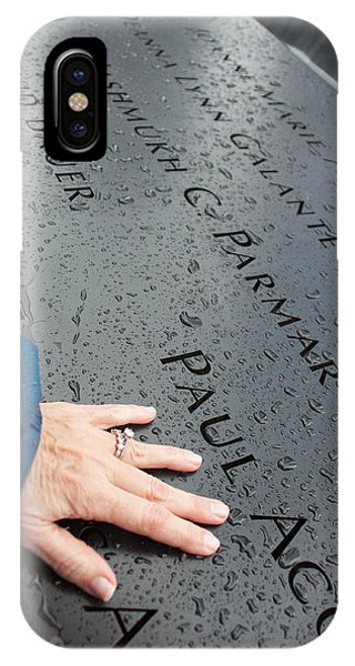 8462 911 Memorial A Touch Of A Hand Phone Case by Deidre Elzer-Lento