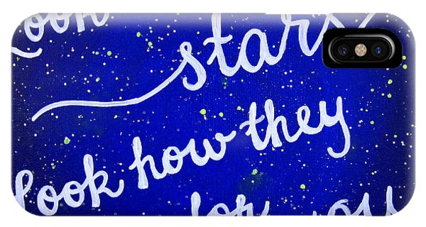 Coldplay iPhone Case - 8x10 Look At The Stars by Michelle Eshleman